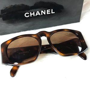 Chanel Vintage Unisex Tortoise Aviator Sunglasses
